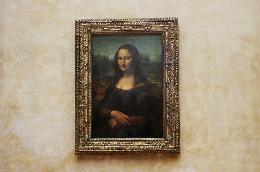 The painting of Mona Lisa