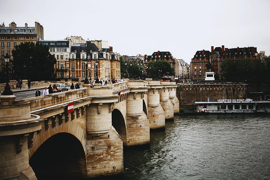 Old bridge in Paris