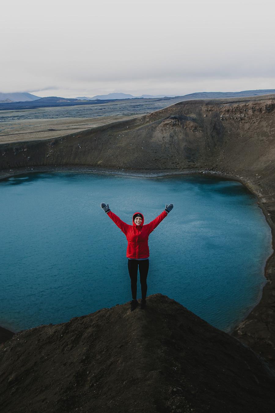 Girl in a volcano