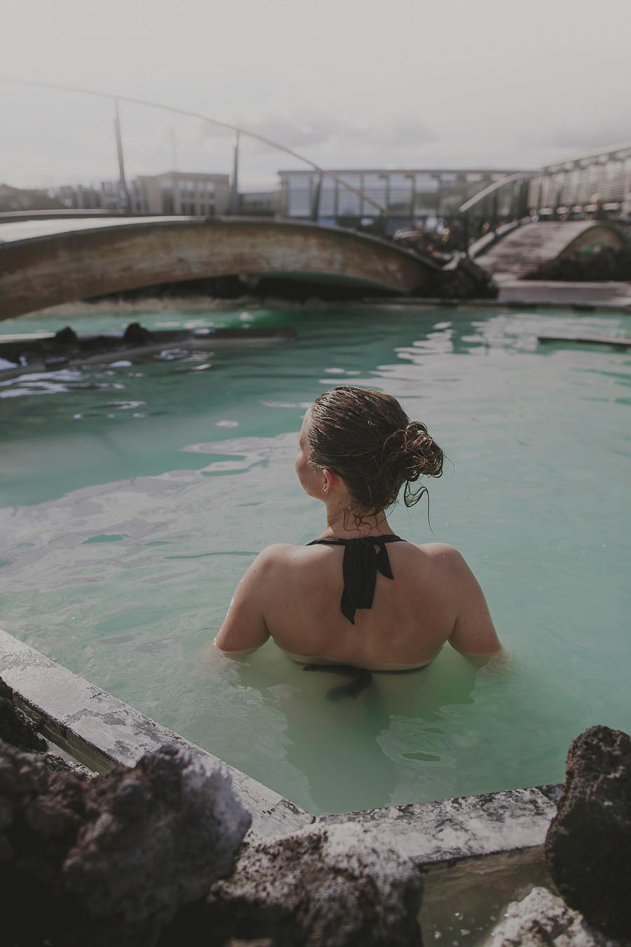 Girl in the blue lagoon