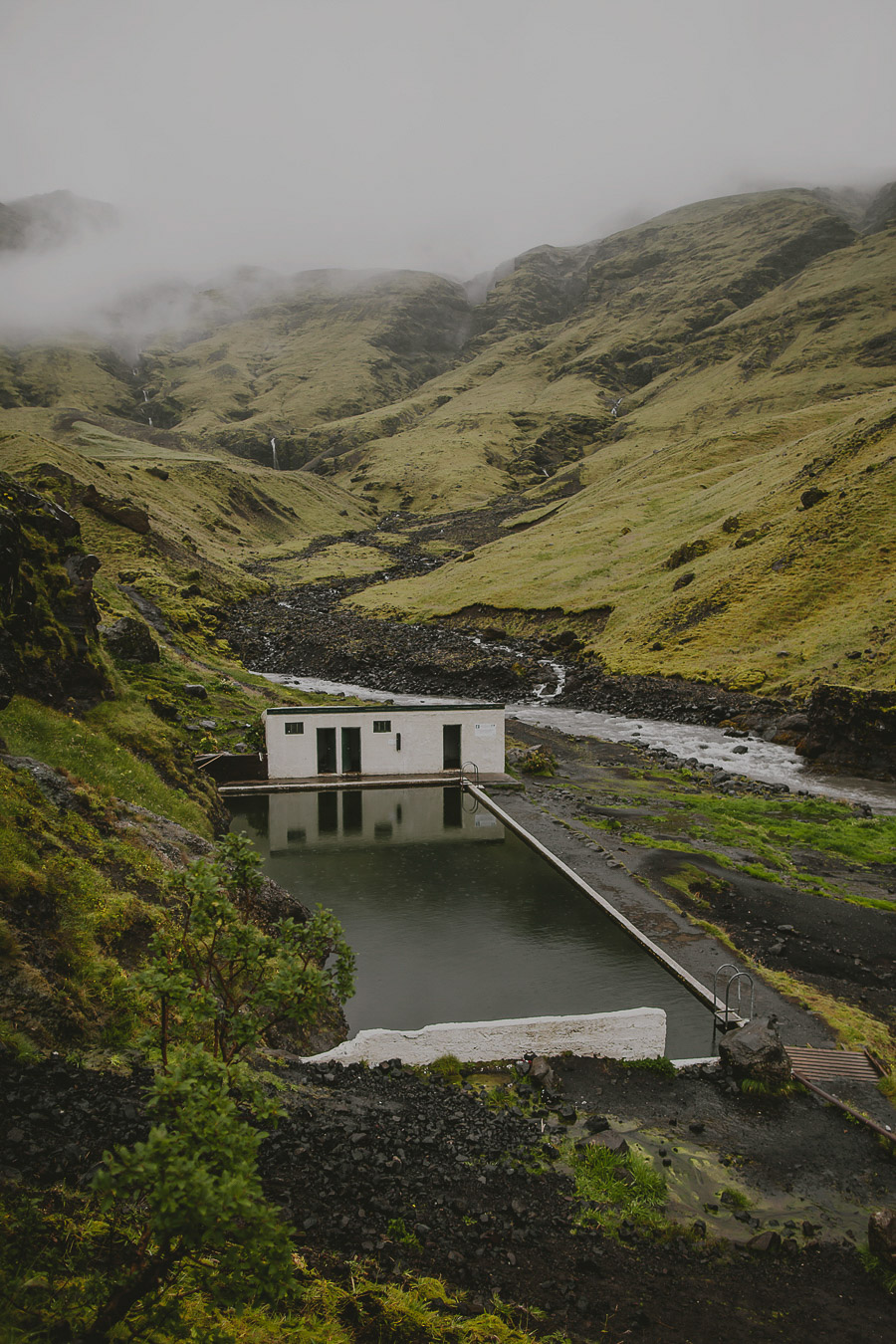 Outdoor swimming pool in Iceland