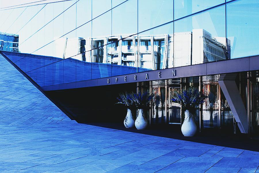 The opera entrance in Oslo