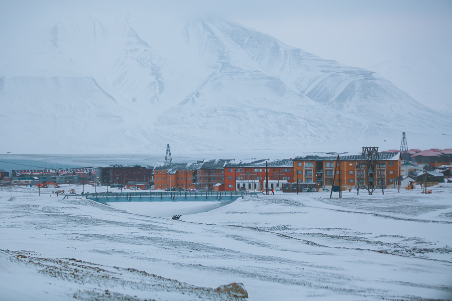 Colourful houses in Svalbard
