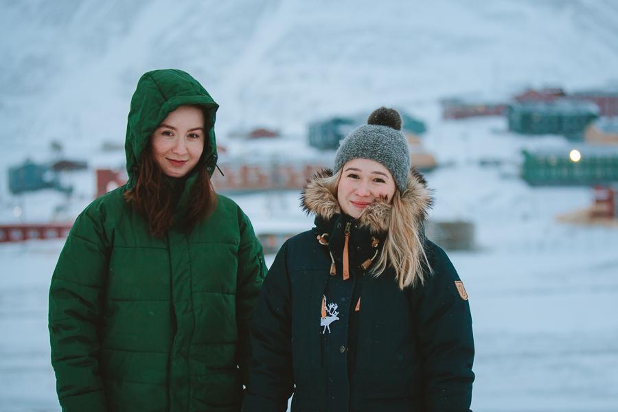 Girls in Svalbard