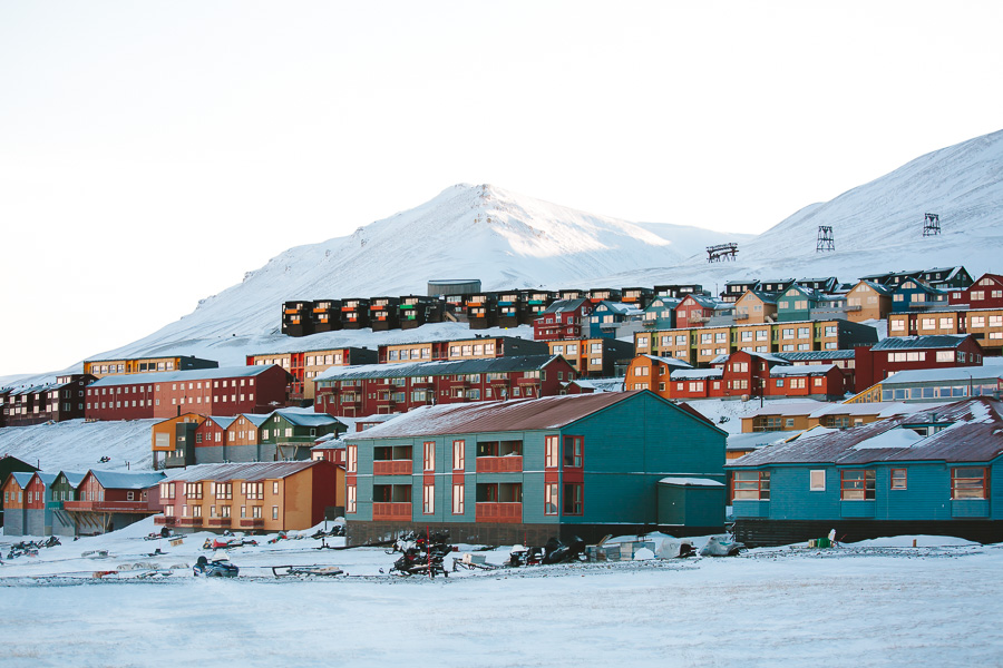 Colourful houses on Svalbard