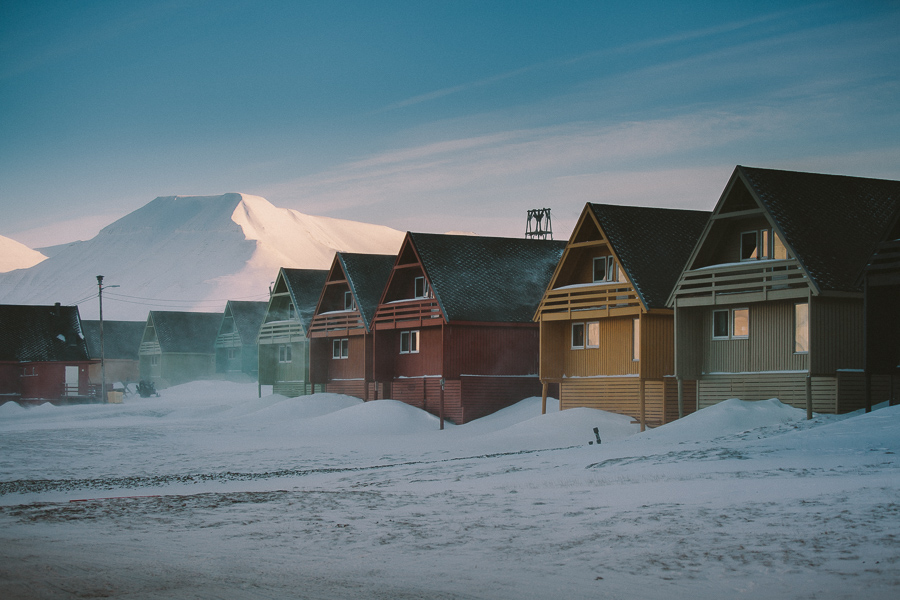 Colourful houses of Svalbard