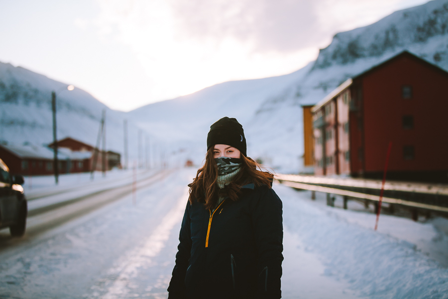 Girl out in the cold