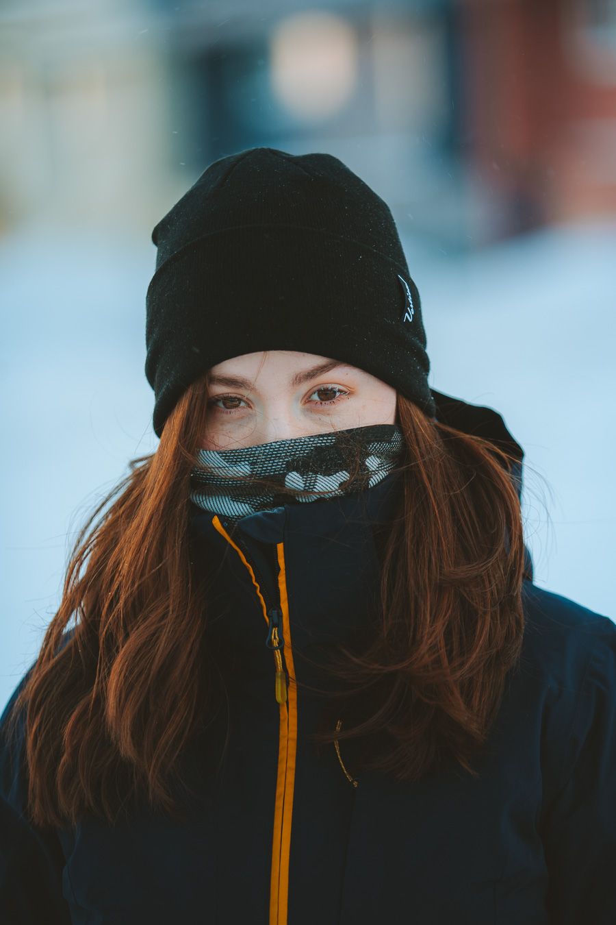 Girl on Svalbard