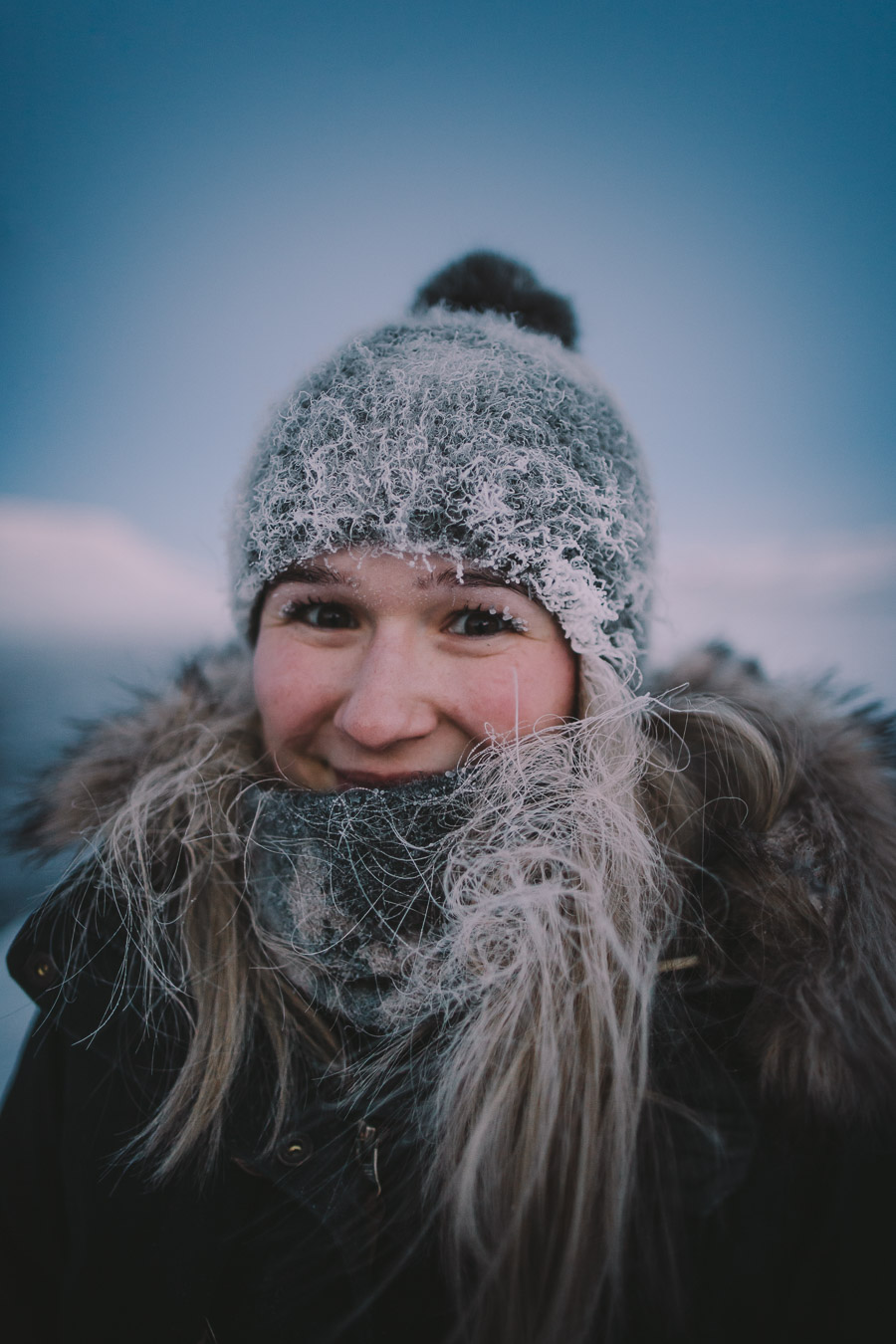 Frozen girl's hair