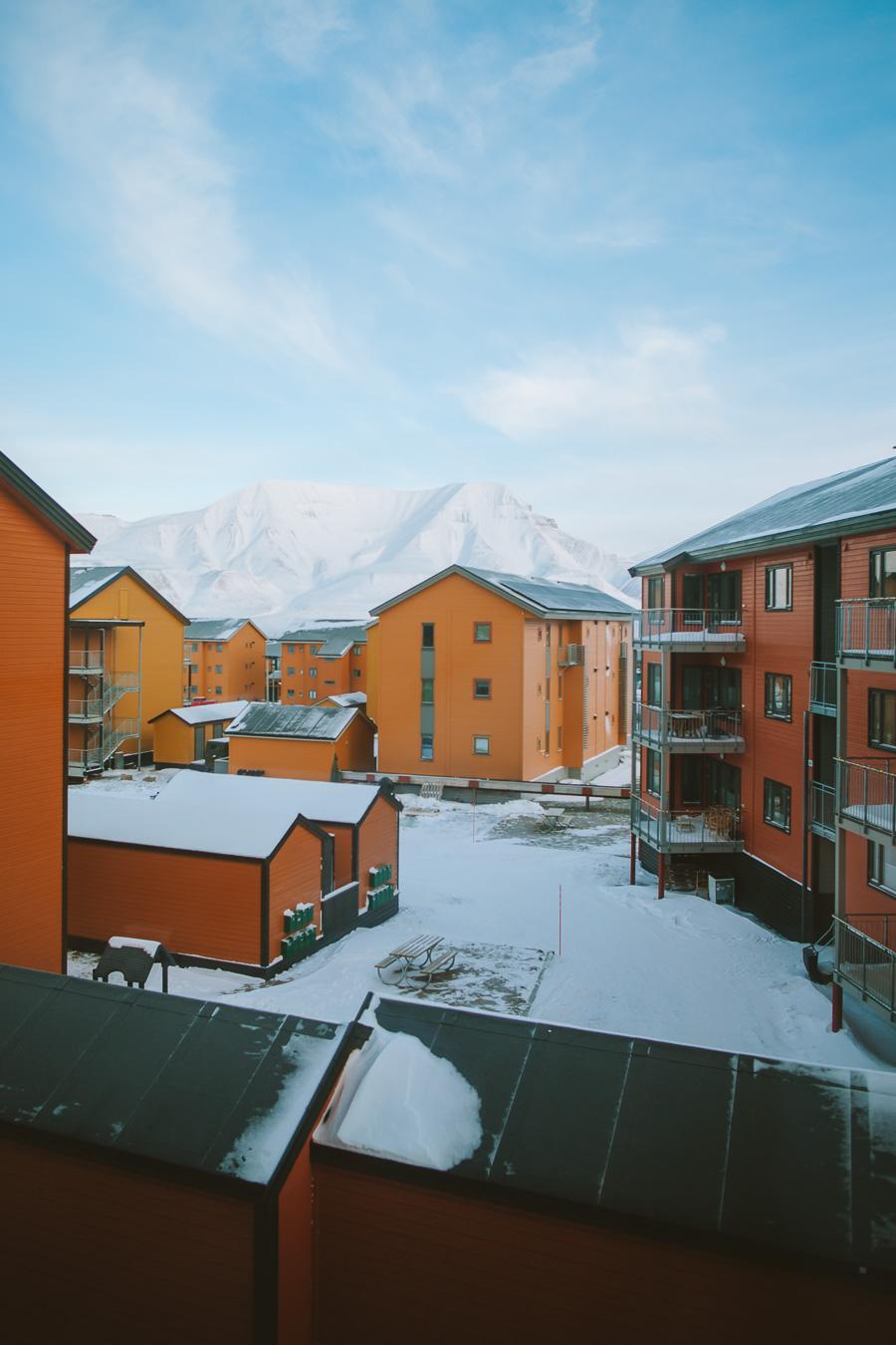 Colourful houses in Longyearbyen