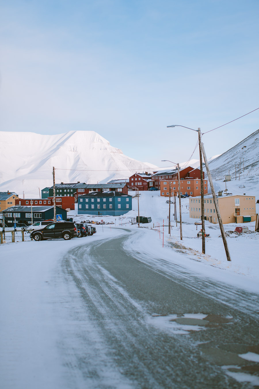 Colourful houses of Longyearbyen city