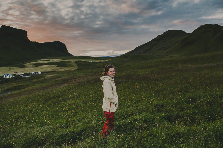 Sunset in Vik in Iceland