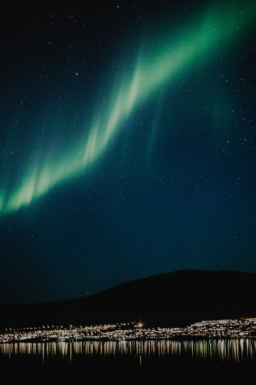 Northern lights outside the window