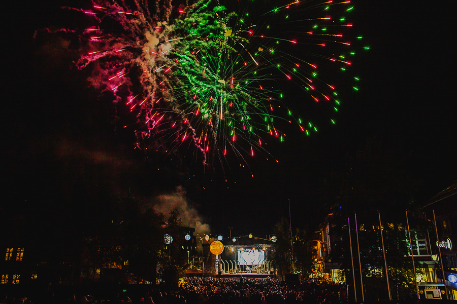 Fireworks at a concert