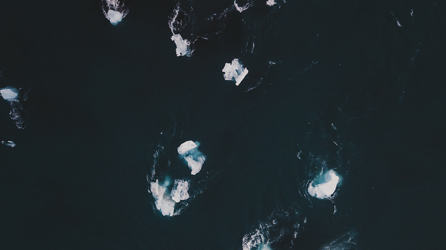 Ice beach - from above