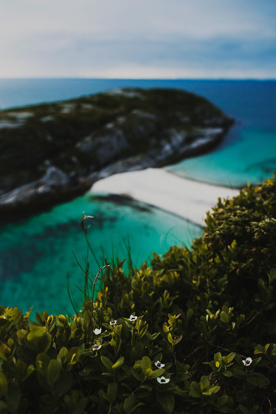 White beach and blue ocean