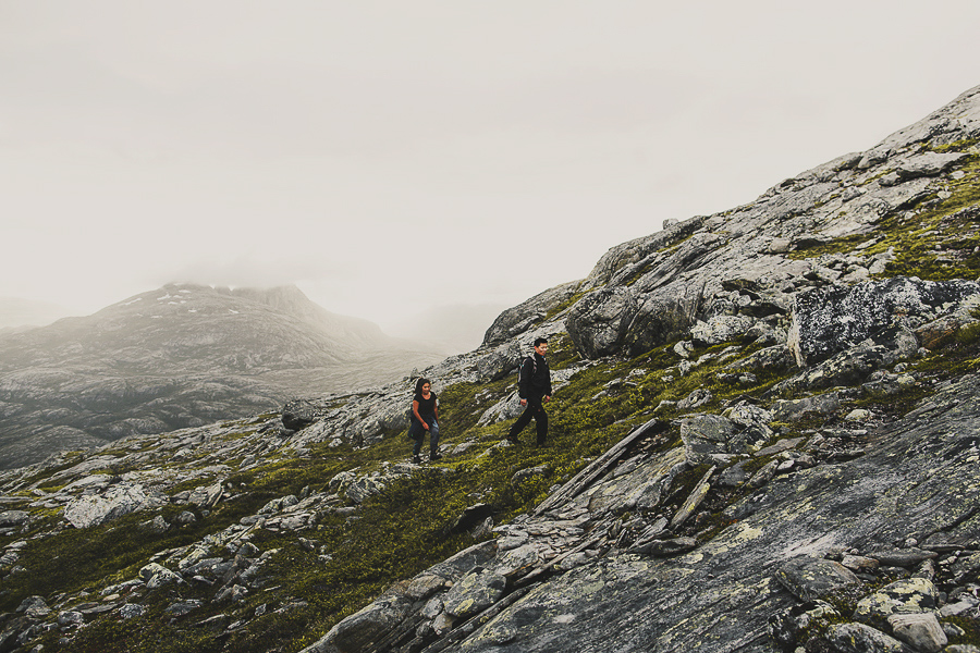 People hiking in nature