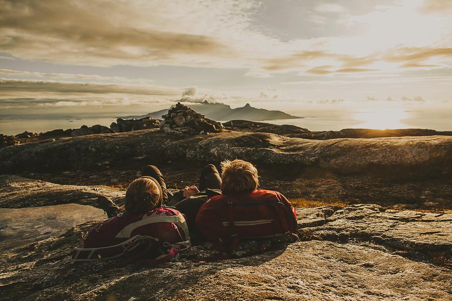 Friends enjoying the mountain view