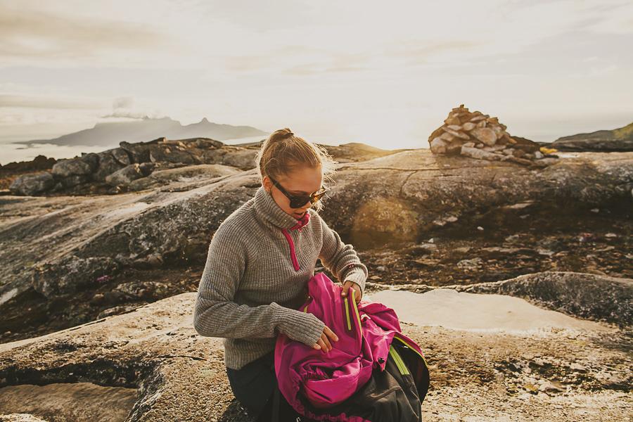 Girl taking a break on a hike