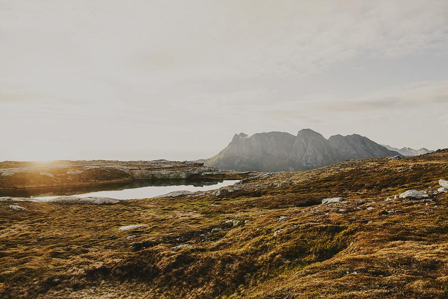 Norwegian landscape at sunset