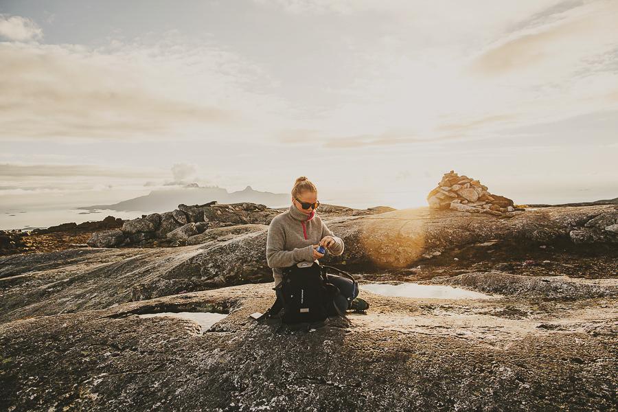 Girl on a hiking trip