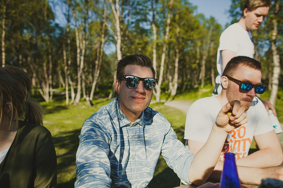 Boys wearing sunglasses