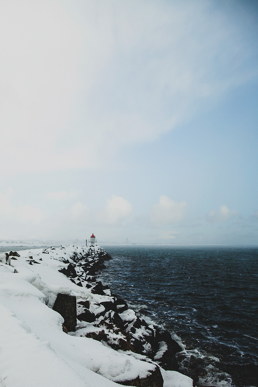 Lighthouse during winter
