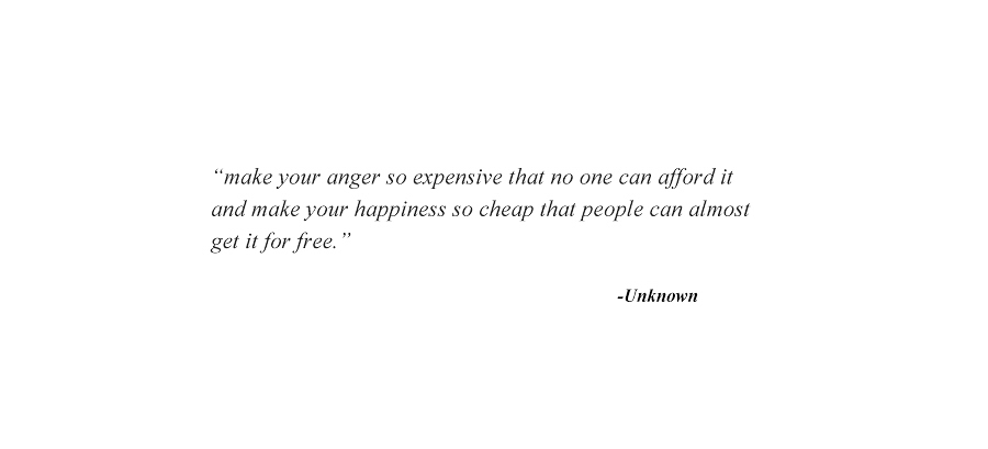 Make your anger so expensive