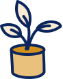 Potted plant icon.