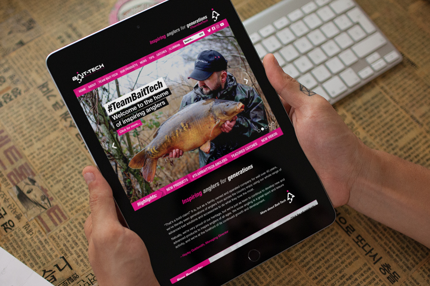 Website and Marketing Design for Bait-Tech