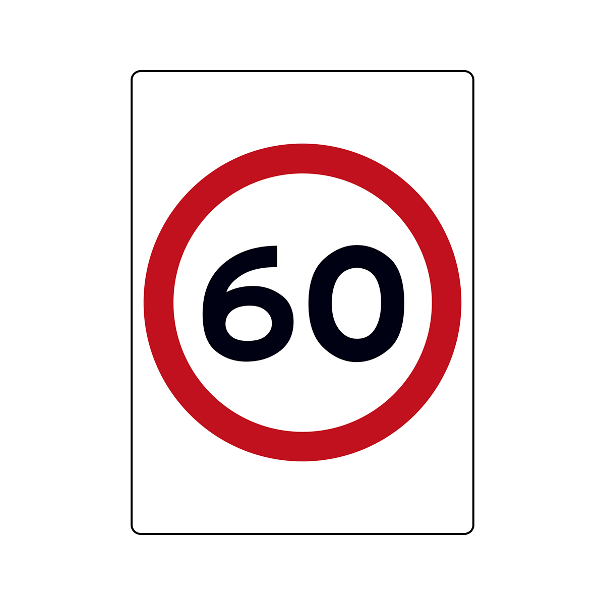 Speed Sign (Rectangle)