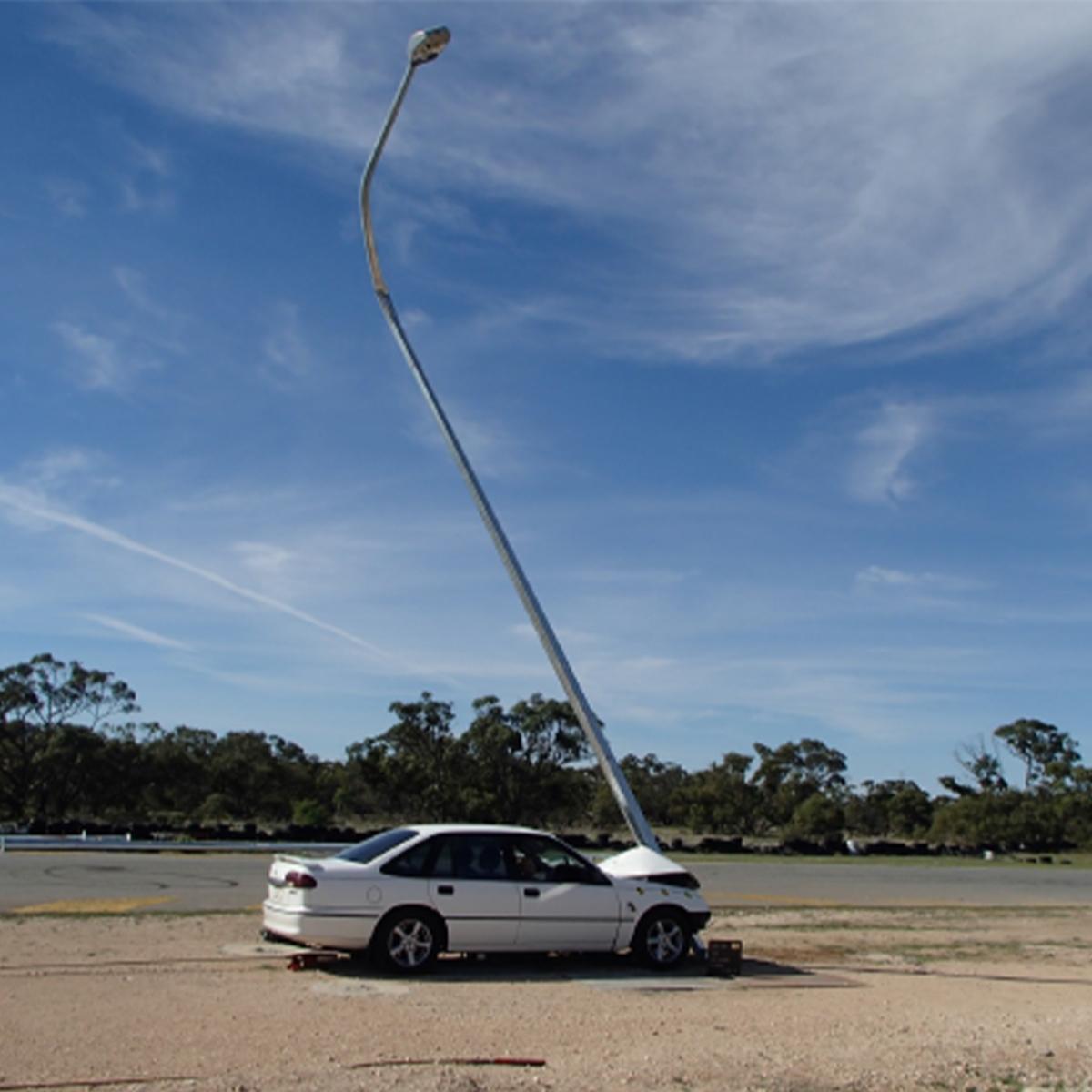 Energy Absorbing Street Light Pole