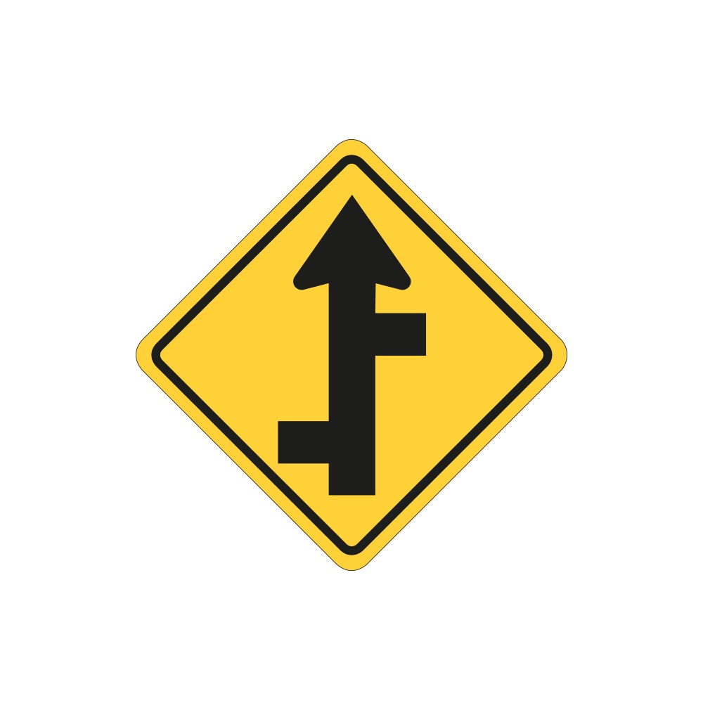 Staggered Side Road Intersection - Straight Left or Right
