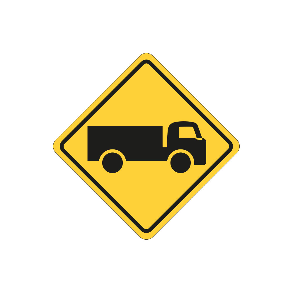 Trucks Crossing or Entering