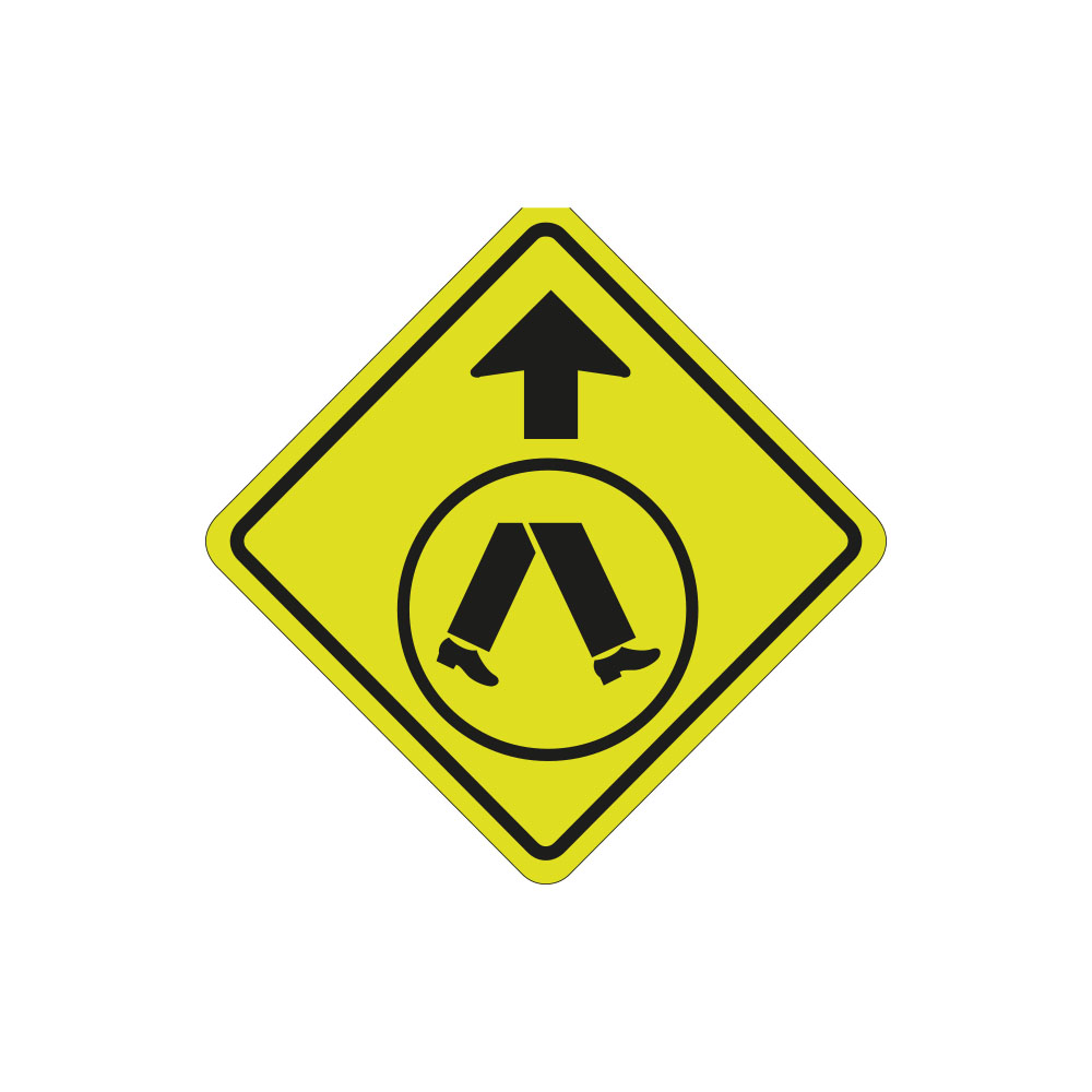 Pedestrian Crossing Ahead Left or Right