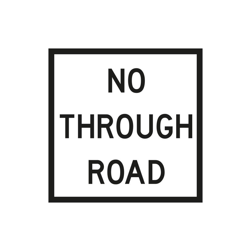 No Through Road (White)