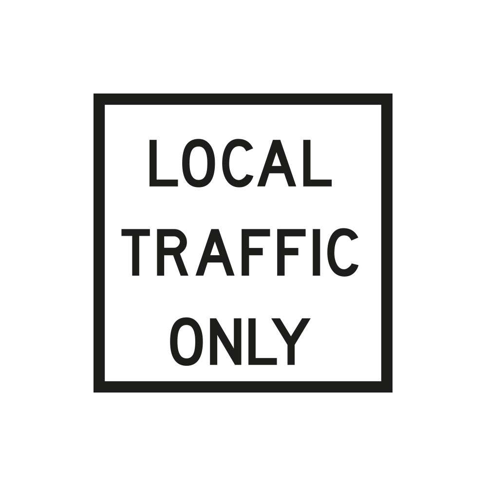 Local Traffic Only (White)