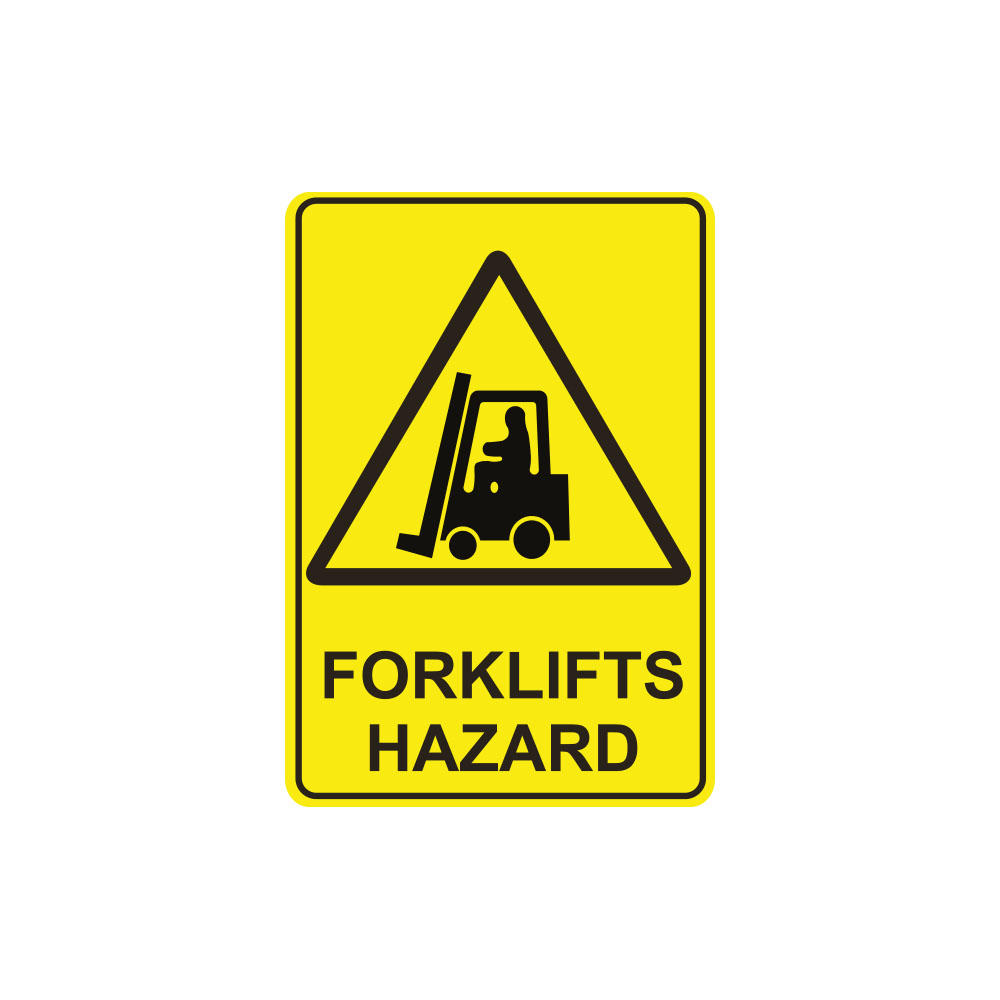 Warning Forklifts Hazard