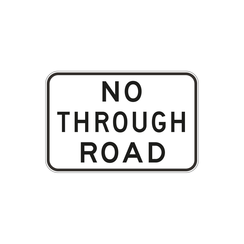 No Through Road White
