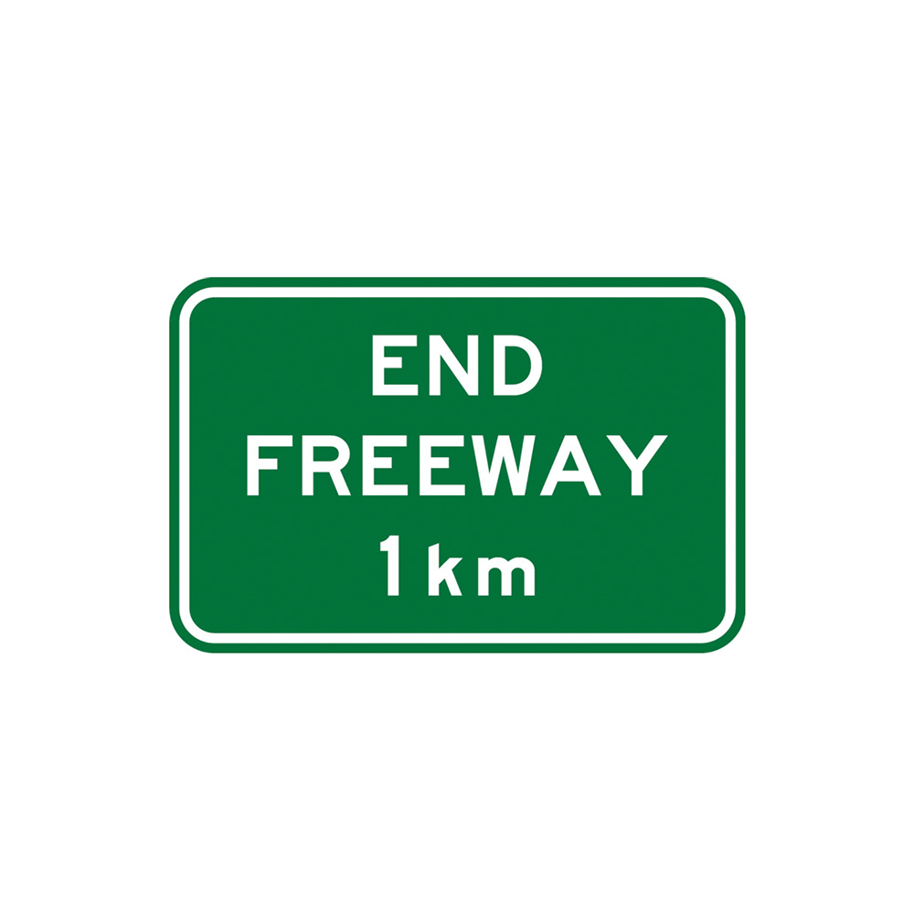 End Freeway Kilometre