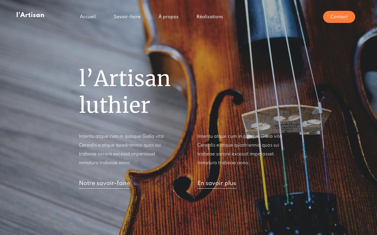 artisan luthier violon