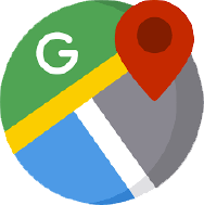 Google Maps icon linking to salon location