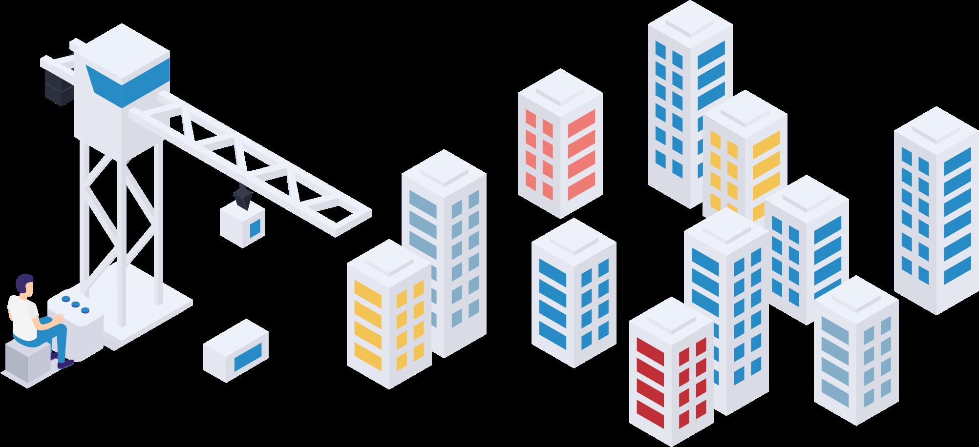 Modular Construction Illustration