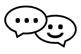 Smiling speech balloons