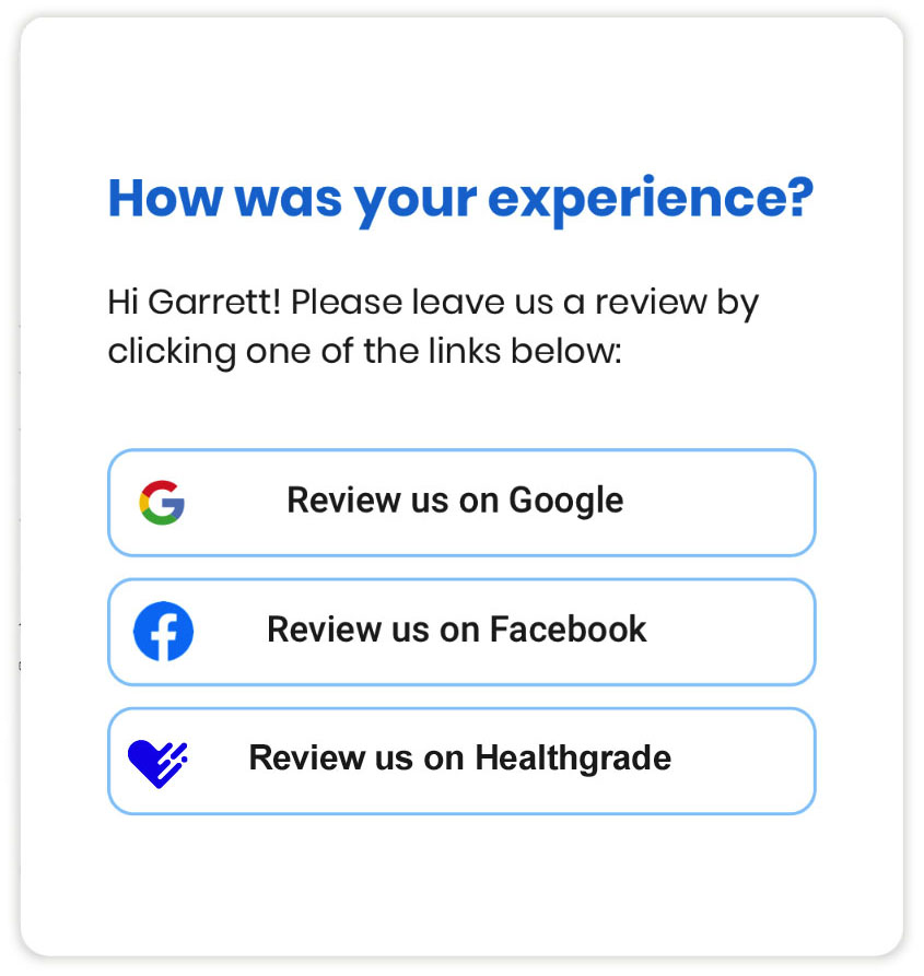 Healthcare review generation