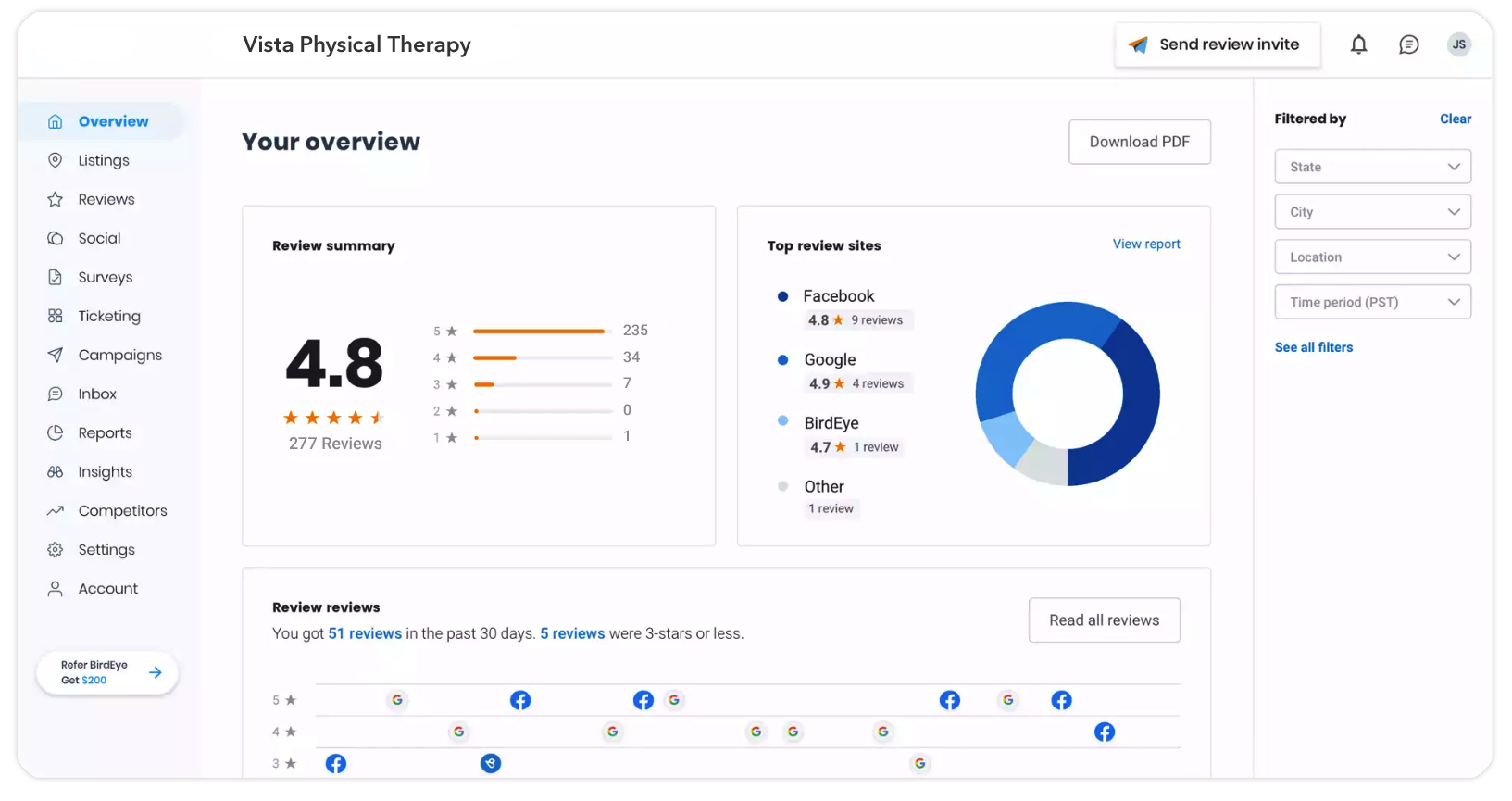 Physical therapy engagement platform
