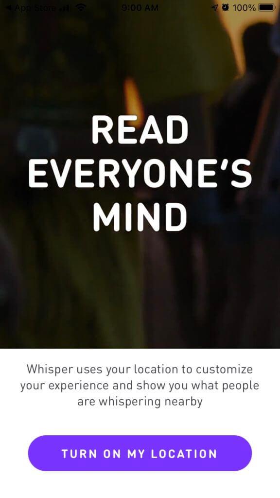 "whisper spp screen shot ""Read everyone's mind"""