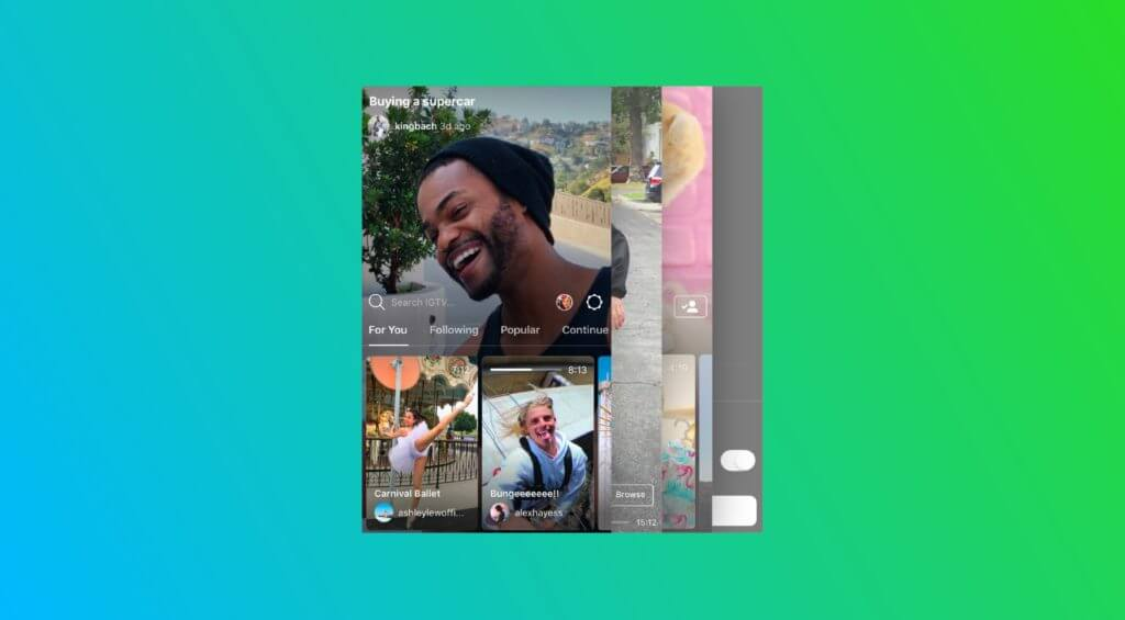 Instagram App ITV Screenshot