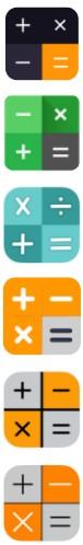 Private Photo Calculator App icons