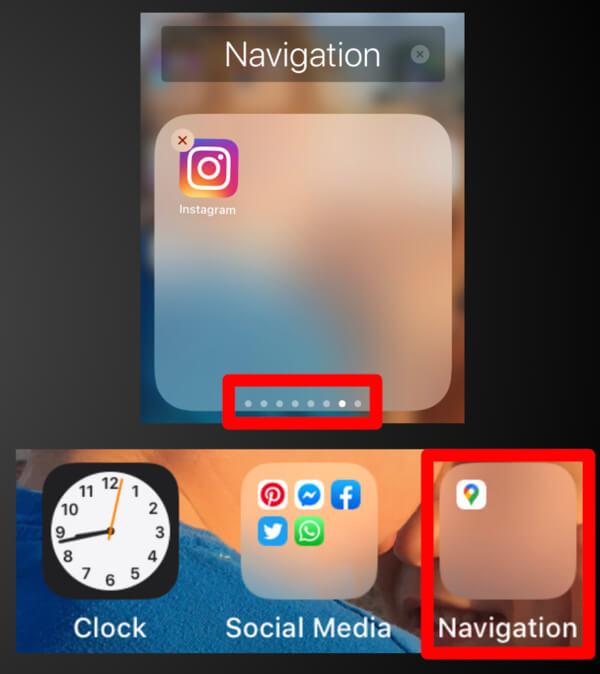 Instagram is Hidden in Navigation Folder screenshot